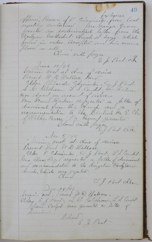 Sessional Records of the 1st Presbyterian Church of Trenton Delaware County Ohio 1873-1937 (p. 53)