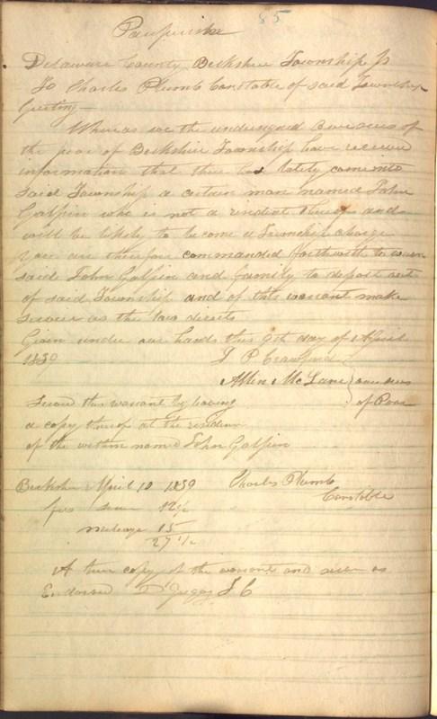 Record Book of Berkshire Township No. 2 1807-1843 (p. 98)