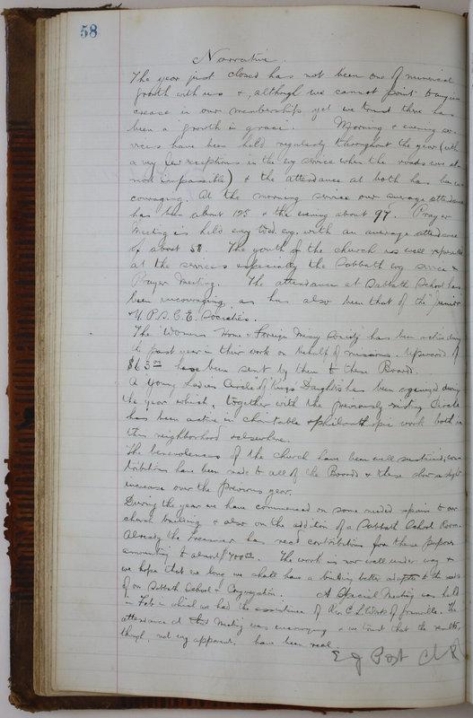 Sessional Records of the 1st Presbyterian Church of Trenton Delaware County Ohio 1873-1937 (p. 62)