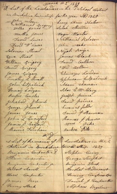 Record Book of Berkshire Township No. 2 1807-1843 (p. 34)