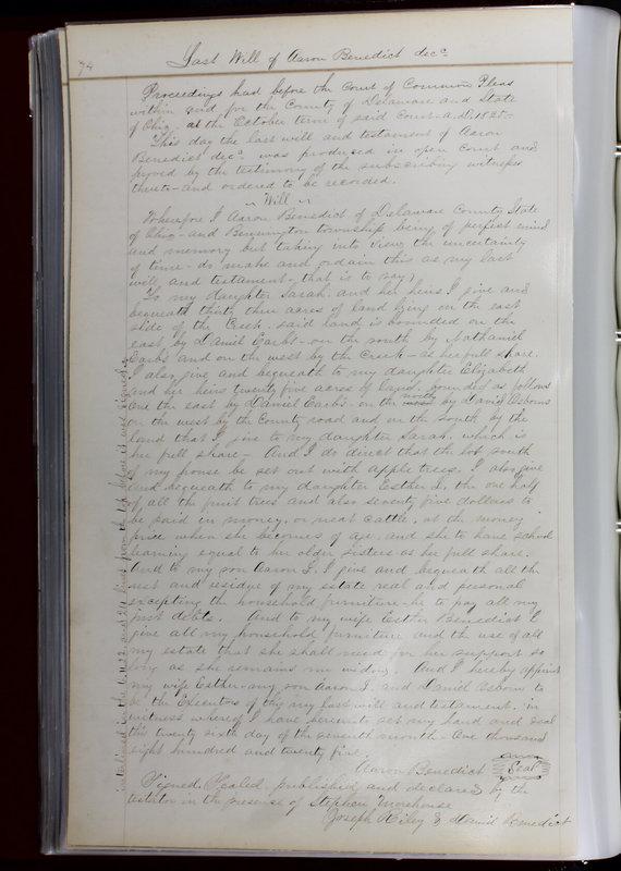 Delaware County Ohio Will Records Vol. 1 1812-1835 (p. 106)