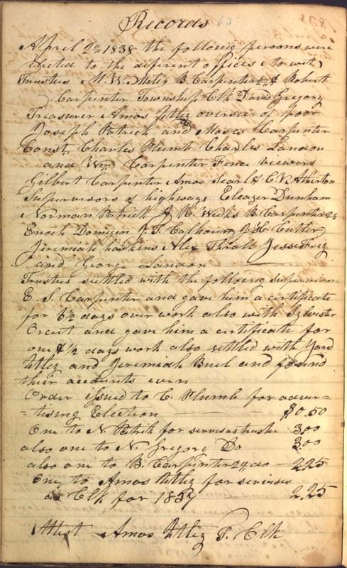 Record Book of Berkshire Township No. 2 1807-1843 (p. 76)