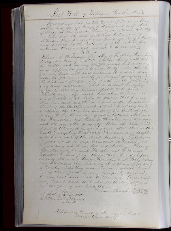 Delaware County Ohio Will Records Vol. 1 1812-1835 (p. 126)
