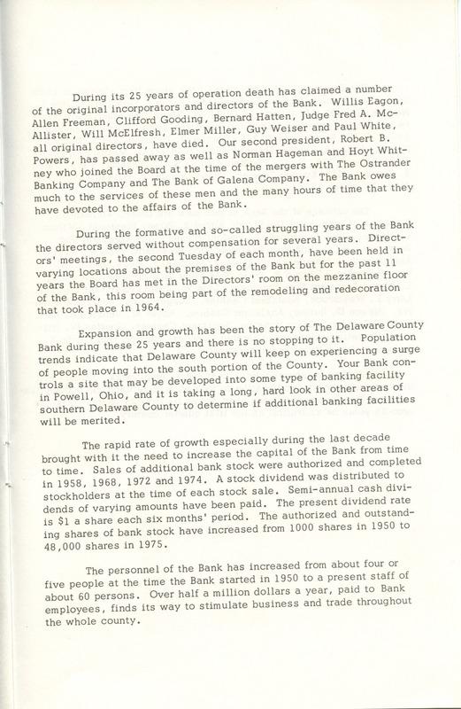 Delaware County Bank 1950-1975 (p. 14)