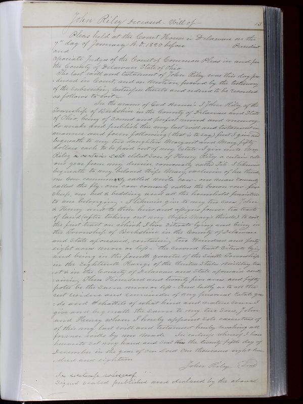 Delaware County Ohio Will Records Vol. 1 1812-1835 (p. 45)
