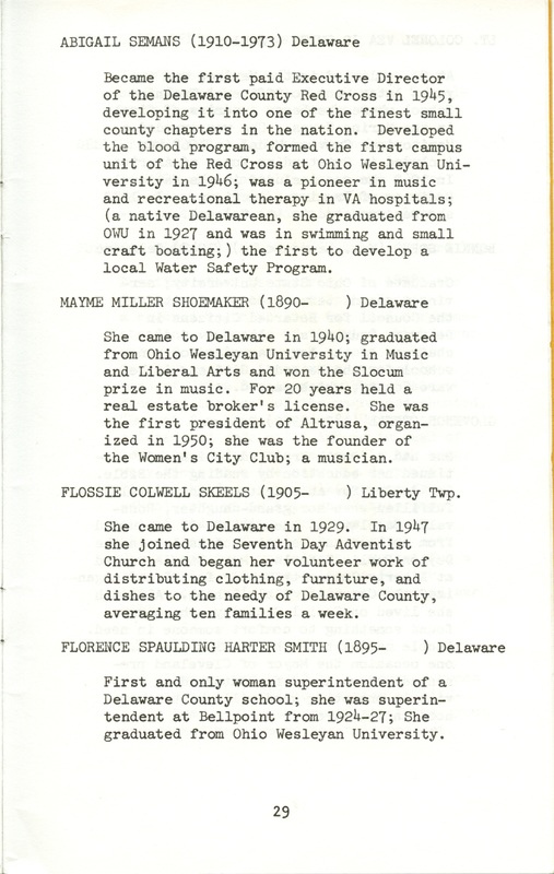 Some Delaware County Women Past and Present (p. 34)