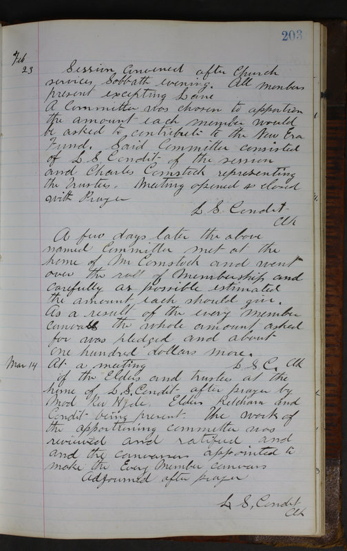 Sessional Records of the 1st Presbyterian Church of Trenton Delaware County Ohio 1873-1937 (p. 191)