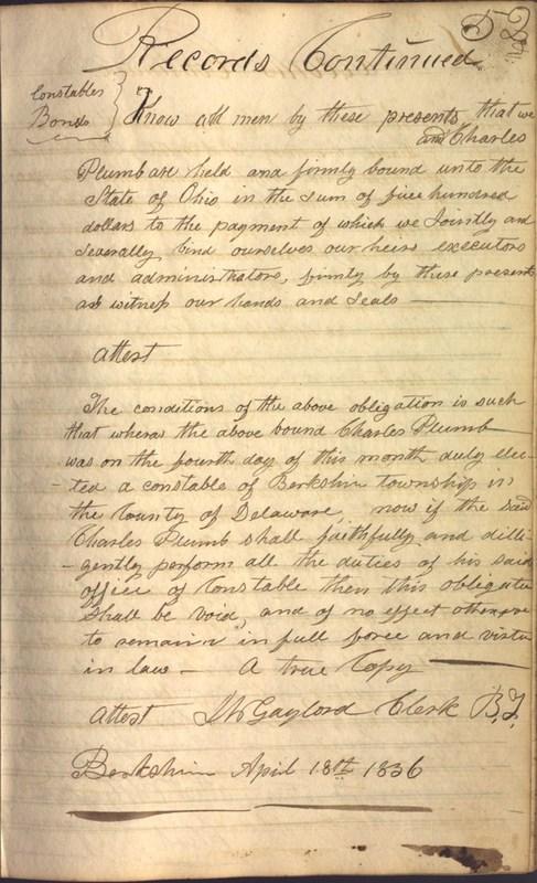 Record Book of Berkshire Township No. 2 1807-1843 (p. 65)