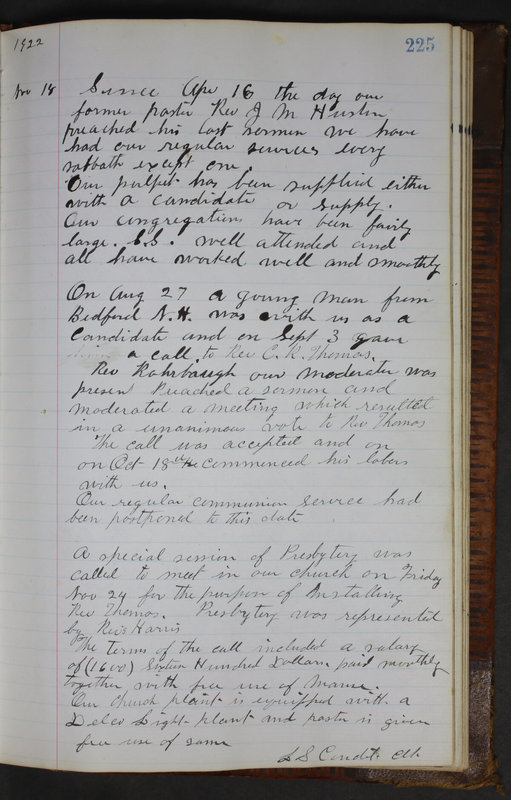Sessional Records of the 1st Presbyterian Church of Trenton Delaware County Ohio 1873-1937 (p. 213)