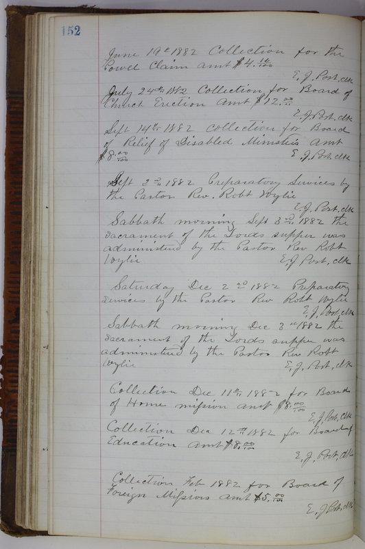 Sessional Records of the 1st Presbyterian Church of Trenton Delaware County Ohio 1873-1937 (p. 142)