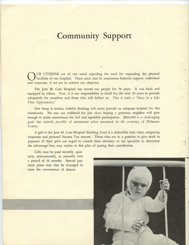 The Jane M. Case Hospital Building Campaign (p. 6)