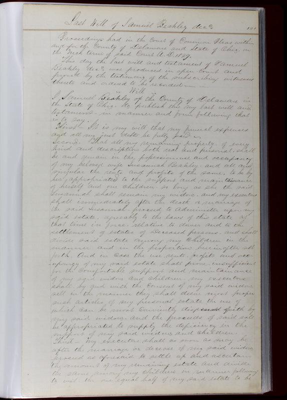 Delaware County Ohio Will Records Vol. 1 1812-1835 (p. 133)
