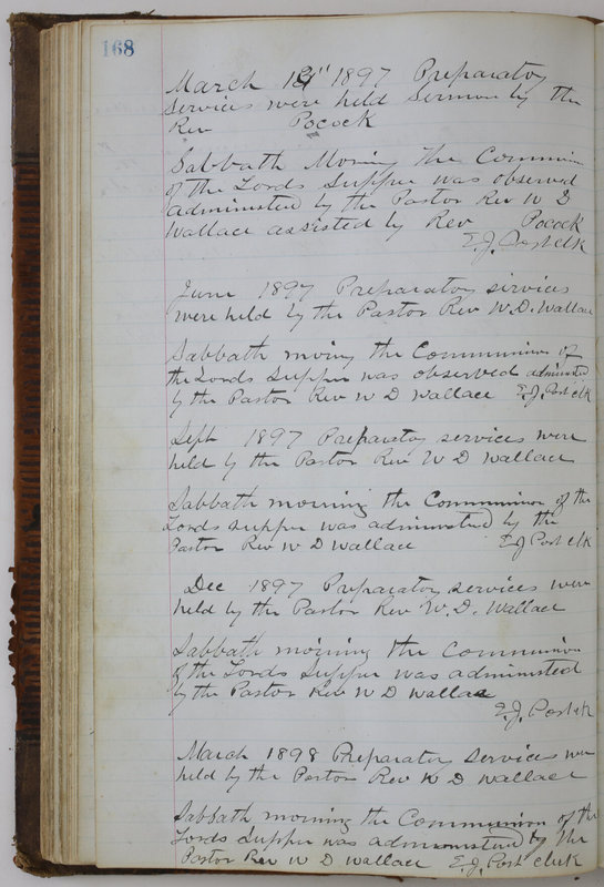 Sessional Records of the 1st Presbyterian Church of Trenton Delaware County Ohio 1873-1937 (p. 158)