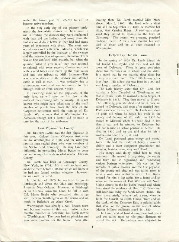 A Short History of Medicine and the Physicians Of Delaware County, Ohio (p. 4)
