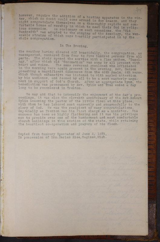 Sessional Records of the 1st Presbyterian Church of Trenton Delaware County Ohio 1873-1937 (p. 302)