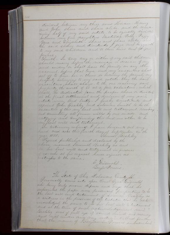 Delaware County Ohio Will Records Vol. 1 1812-1835 (p. 134)