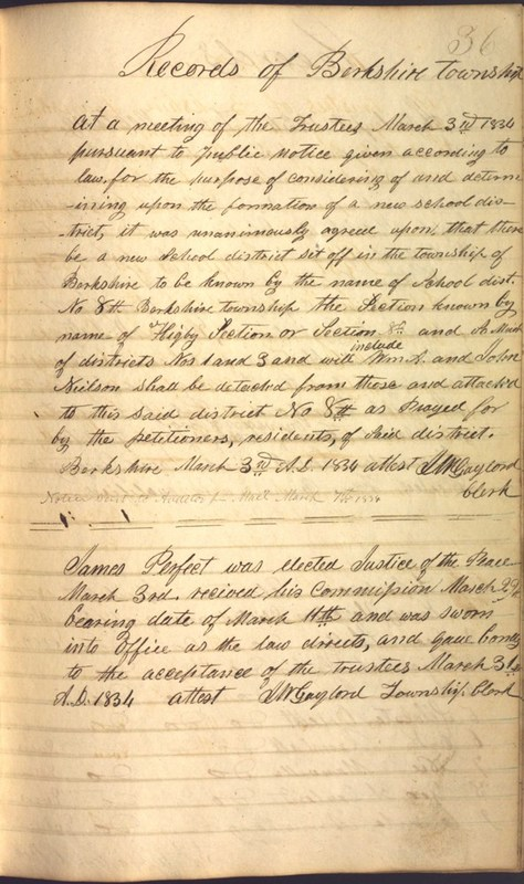 Record Book of Berkshire Township No. 2 1807-1843 (p. 49)