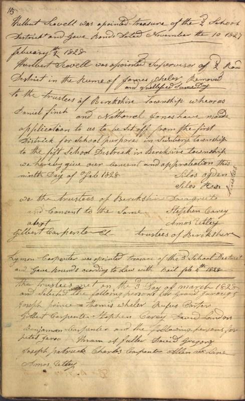 Record Book of Berkshire Township No. 2 1807-1843 (p. 28)