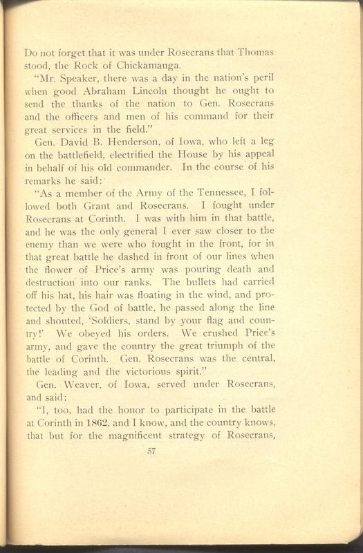 Major-General William Stark Rosecrans (p. 61)
