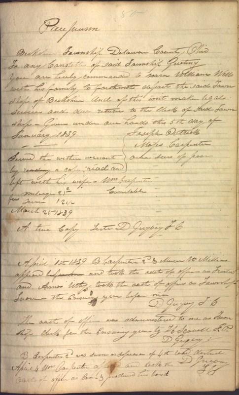 Record Book of Berkshire Township No. 2 1807-1843 (p. 93)