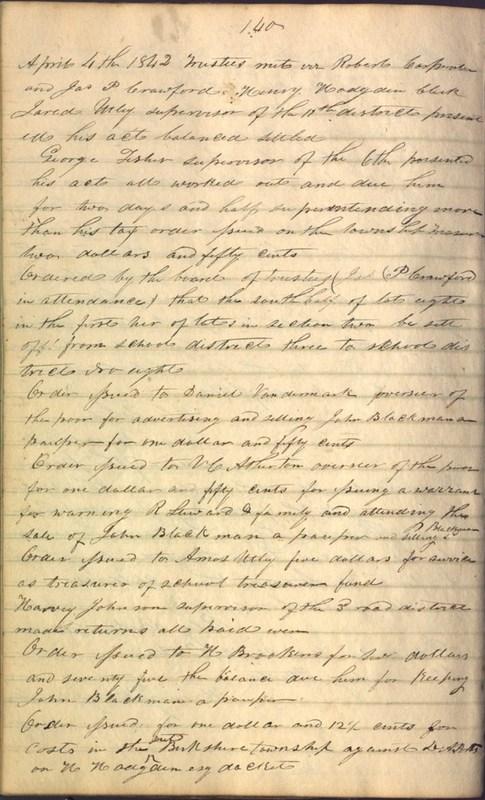 Record Book of Berkshire Township No. 2 1807-1843 (p. 154)