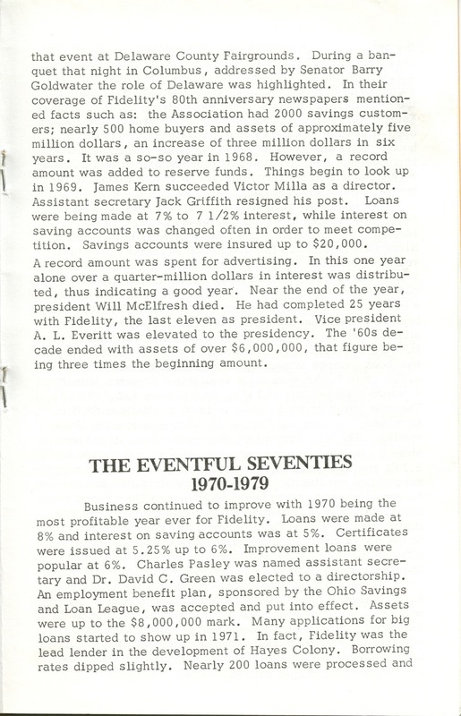 Fidelity Federal Savings and Loan Association 100 Years (p. 18)