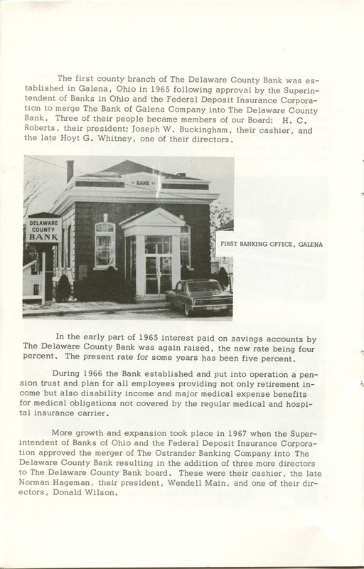 Delaware County Bank 1950-1975 (p. 11)