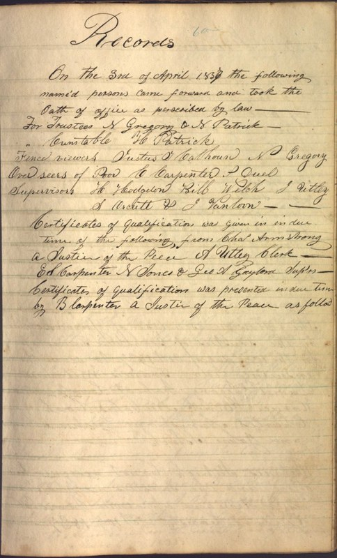 Record Book of Berkshire Township No. 2 1807-1843 (p. 73)