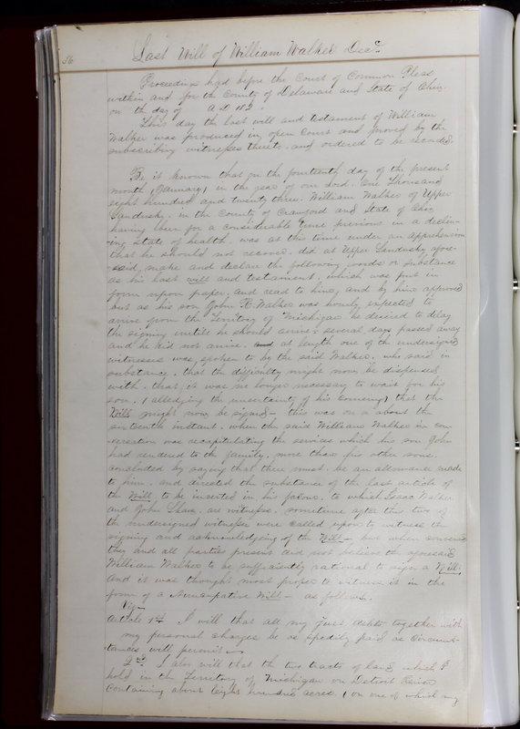 Delaware County Ohio Will Records Vol. 1 1812-1835 (p. 68)