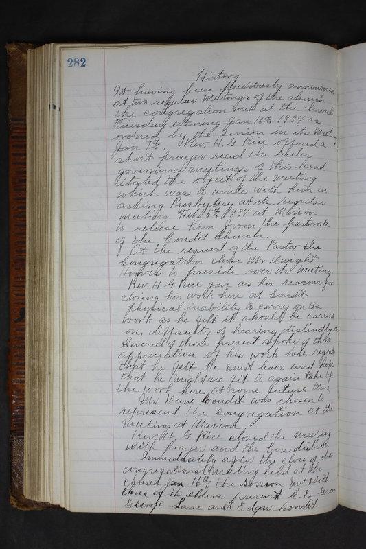 Sessional Records of the 1st Presbyterian Church of Trenton Delaware County Ohio 1873-1937 (p. 269)