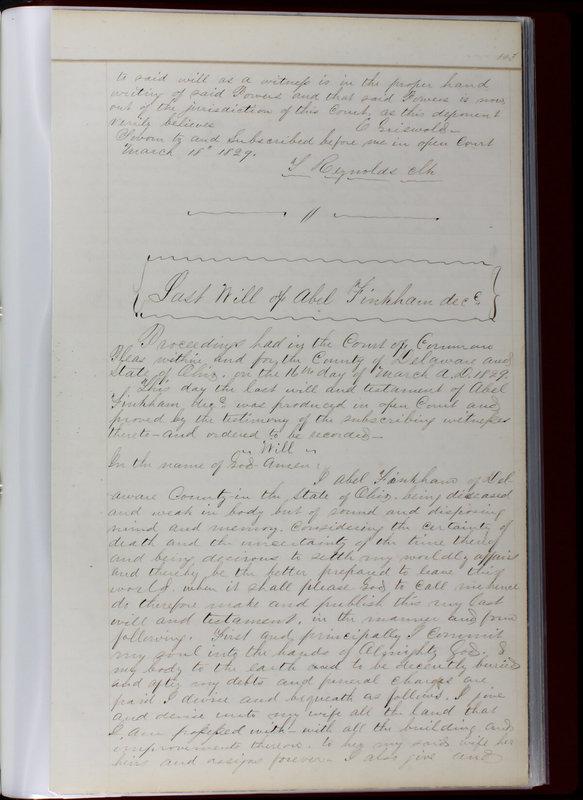 Delaware County Ohio Will Records Vol. 1 1812-1835 (p. 135)