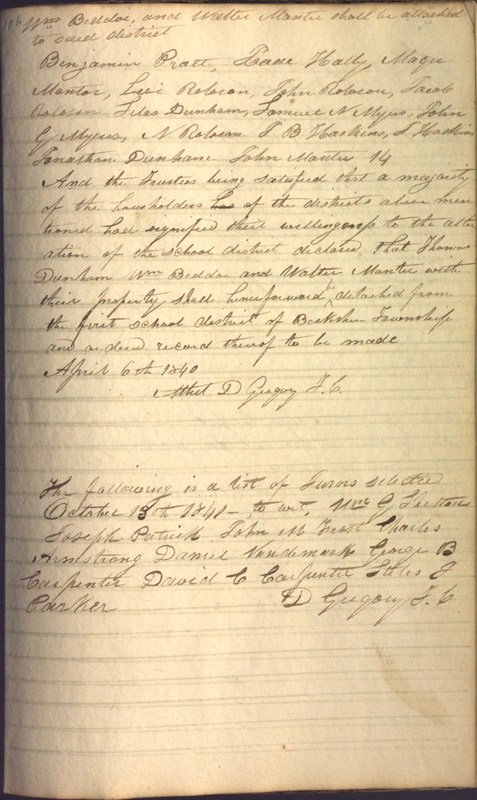 Record Book of Berkshire Township No. 2 1807-1843 (p. 119)