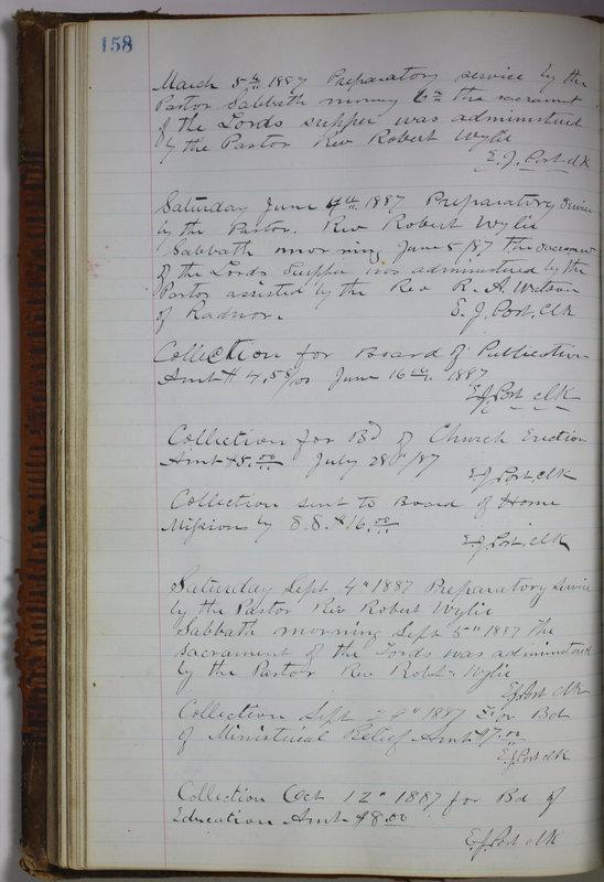 Sessional Records of the 1st Presbyterian Church of Trenton Delaware County Ohio 1873-1937 (p. 148)
