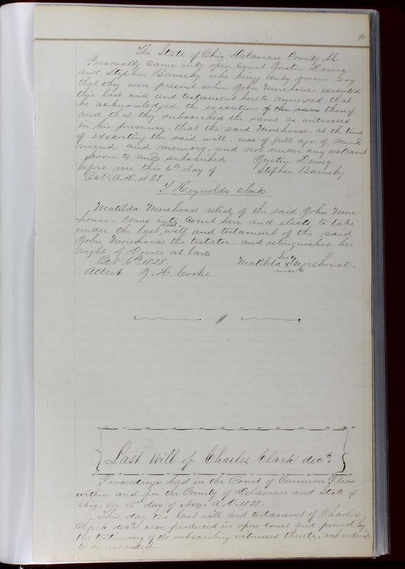 Delaware County Ohio Will Records Vol. 1 1812-1835 (p. 123)
