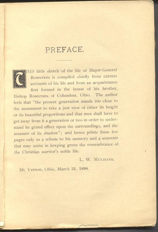 Major-General William Stark Rosecrans (p. 9)