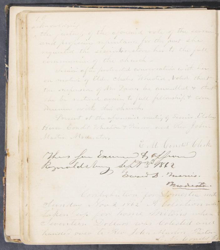 Sessional Records of the 1st Presbyterian Church of Trenton, Delaware Co., Ohio, 1831 (p. 46)