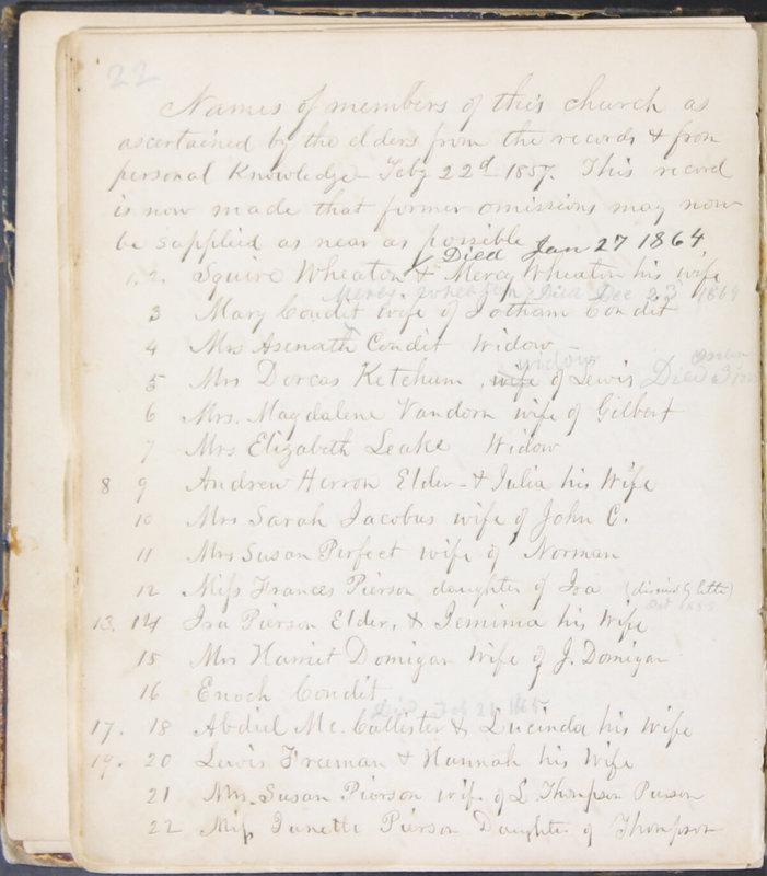 Sessional Records of the 1st Presbyterian Church of Trenton, Delaware Co., Ohio, 1831 (p. 28)