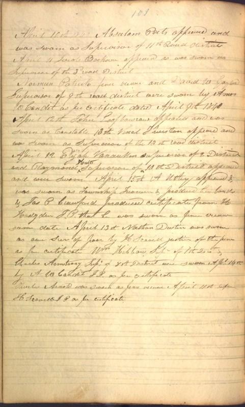 Record Book of Berkshire Township No. 2 1807-1843 (p. 114)