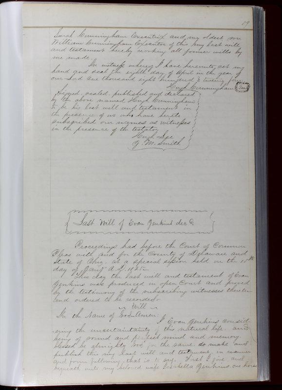 Delaware County Ohio Will Records Vol. 1 1812-1835 (p. 91)