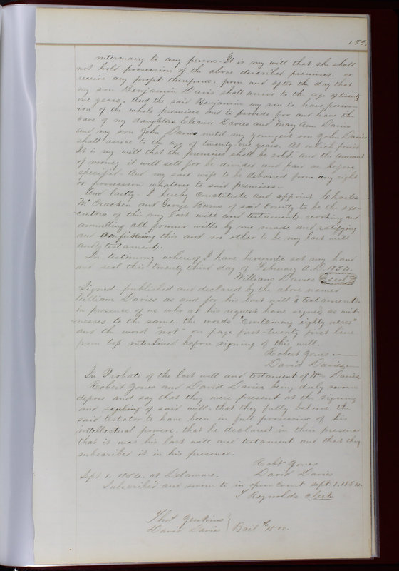 Delaware County Ohio Will Records Vol. 1 1812-1835 (p. 165)