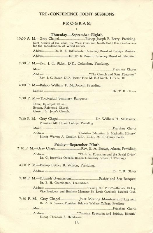 Tri-Conference Program (p. 10)