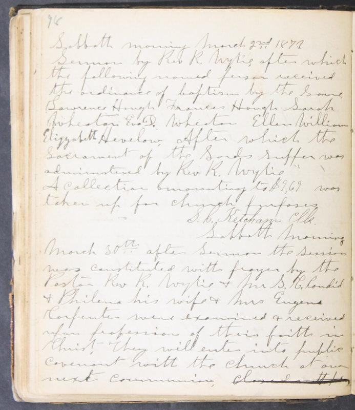 Sessional Records of the 1st Presbyterian Church of Trenton, Delaware Co., Ohio, 1831 (p. 104)