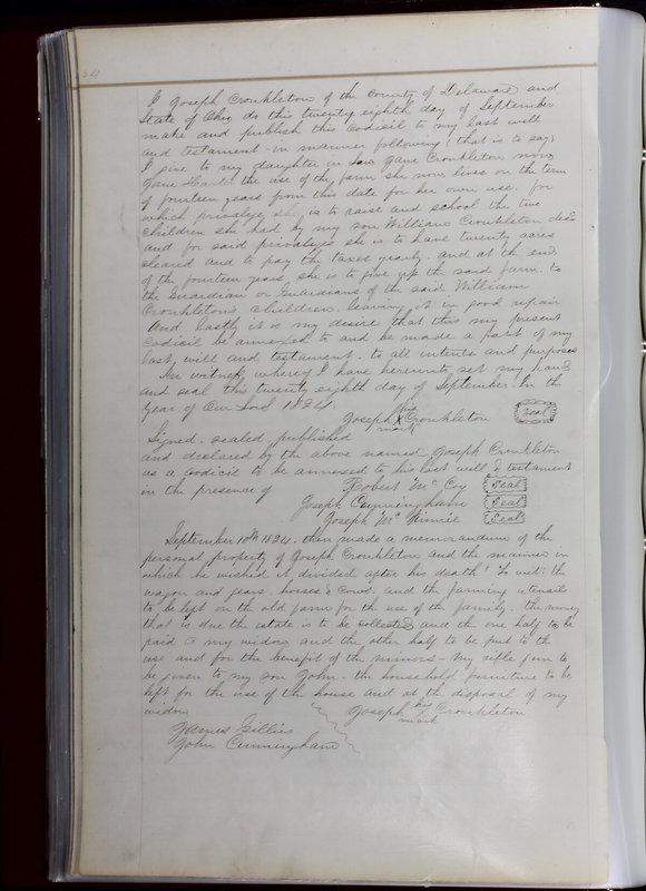 Delaware County Ohio Will Records Vol. 1 1812-1835 (p. 96)