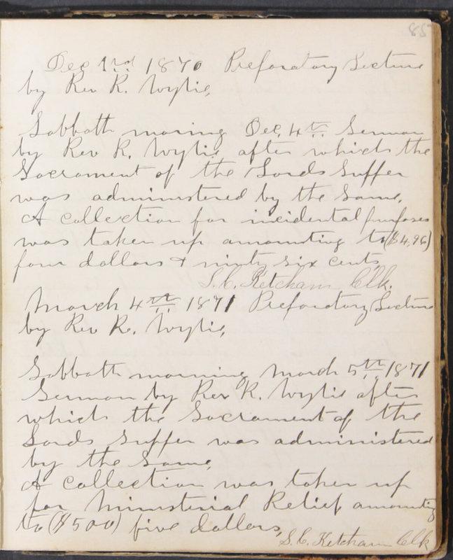 Sessional Records of the 1st Presbyterian Church of Trenton, Delaware Co., Ohio, 1831 (p. 91)