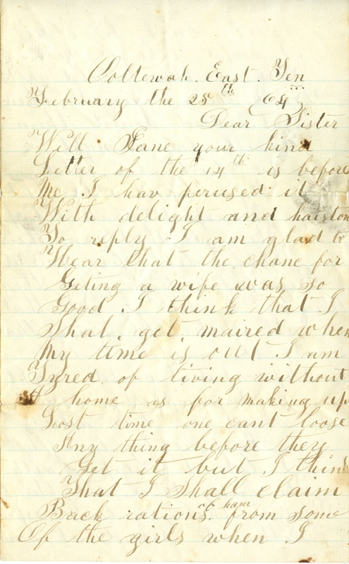 Mitchell Family Civil War Letters (p. 51)