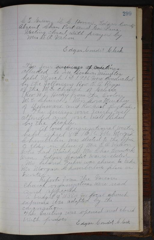 Sessional Records of the 1st Presbyterian Church of Trenton Delaware County Ohio 1873-1937 (p. 286)