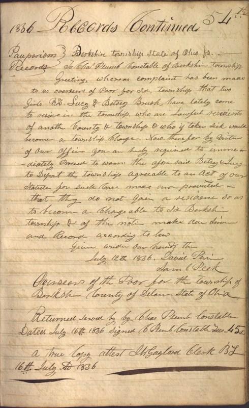 Record Book of Berkshire Township No. 2 1807-1843 (p. 67)