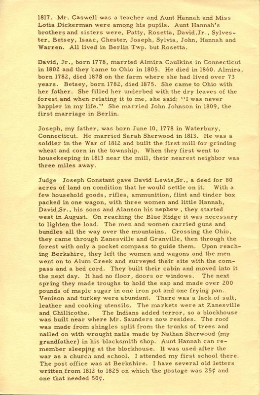 Berlin Township Program of the Delaware County Historical Society (p. 4)