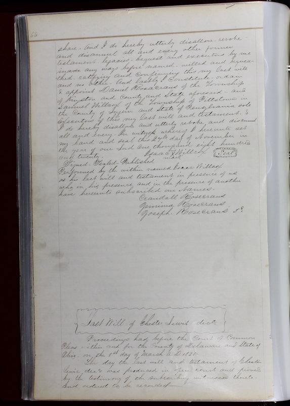 Delaware County Ohio Will Records Vol. 1 1812-1835 (p. 98)