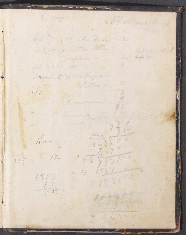 Sessional Records of the 1st Presbyterian Church of Trenton, Delaware Co., Ohio, 1831 (p. 133)